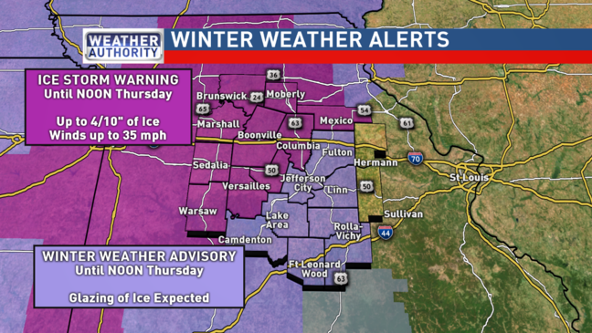 Ice Storm Warning issued for parts of Mid-Missouri | KRCG