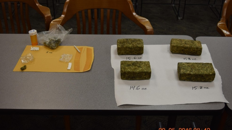 Officers recover several pounds of marijuana during Randolph
