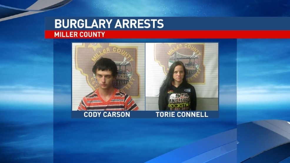 Two arrested after multiple burglaries reported in Miller