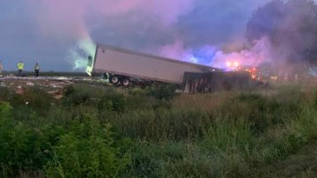 One dead in fiery I-70 crash near Boonville, westbound