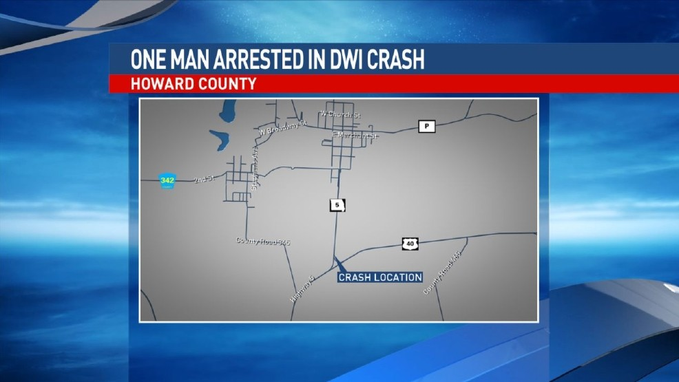 One arrested for DWI assault charges after Howard County crash | KRCG